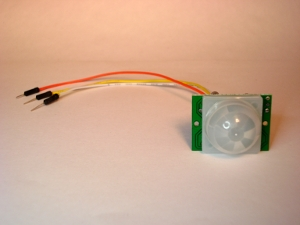 arduino motion sensor with wire jumpers